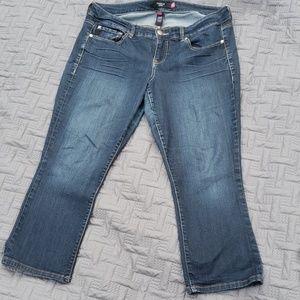 Torrid crop denim jeans 16